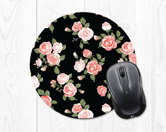 Mouse Pad Gift School Supplies for Coworker Mouse Pad Dorm Decor Floral Mousepad Gift for Boss Office Supplies Floral Pink Mousepad Fun 9067