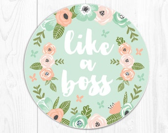 Mouse Pad School Supplies Mint Mousepad Dorm Decor Gift Coworker Gift Employee Gift Like a Boss Mouse Pads Mousepads Desk Accessories 9119