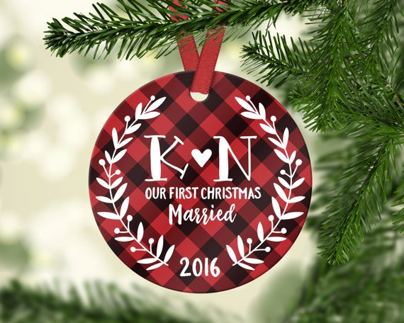 Wedding Gifts for Couple First Christmas Wedding Ornament First Christmas  Married Ornament Personalized Wedding Ornament Christmas Cute - Wedding Gifts For Couple First Christmas Wedding Ornament Etsy