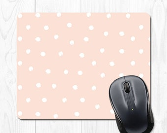 Mouse Pad Polka Dot Mousepad Pink Mouse Pad Office Supplies Cubicle Accessories Cubicle Decor Office Desk Accessories Office Decor