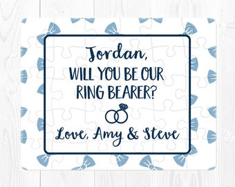 Will You Be My Ring Bearer Puzzle Proposal Ring Bearer Proposal Gift Proposal Will You Be Our Ring Bearer Puzzle Proposal Navy Blue Cute