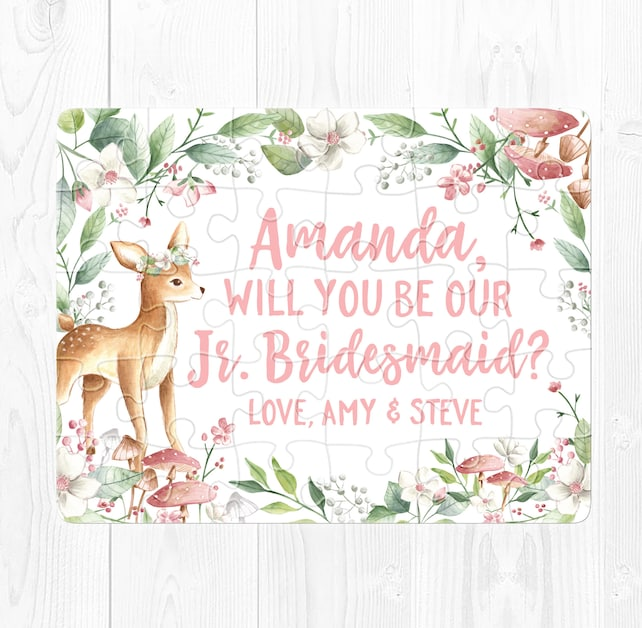 Junior Bridesmaid Proposal Puzzle Junior Bridesmaid Proposal Gift Junior Bridesmaid Puzzle Proposal Junior Bridesmaid Proposal Card Pink