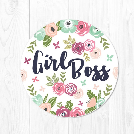 Girl Boss Mouse Pad Gift for Boss Gift Mousepad Floral Mouse