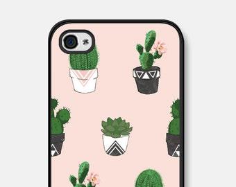 iPhone SE Case Phone Case Unique iPhone 6 Case Cactus iPhone 6 Plus Case Cactus Samsung Galaxy S6 Case Cactus iPhone 5 Case Succulent Pink