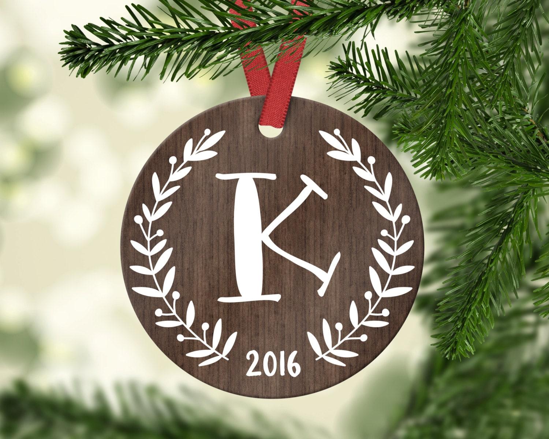 Monogram Ornament Monogram Christmas Ornament Employee Gift | Etsy