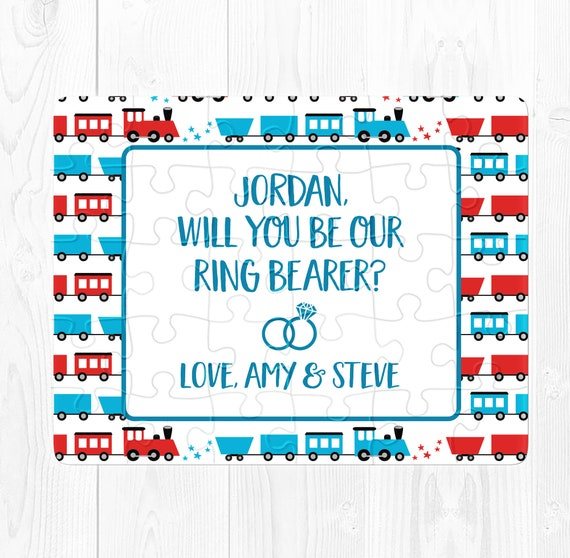 Ring Bearer Proposal Ring bearer Puzzle Ringbearer Proposal Ringbearer Puzzle Ring Bearer Proposal Card Ringbearer Proposal Card Train Cute