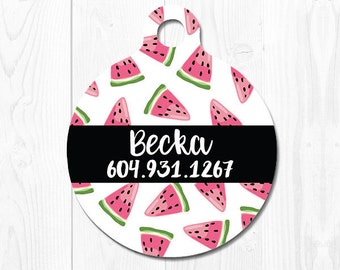 Dog Tag Pet Tag Dog Tags for Dogs Dog Collar Tag Pet ID Tag Cat Tag Pet Gift Cat ID Tag Dog ID Tag Dog Identification Tag Watermelon