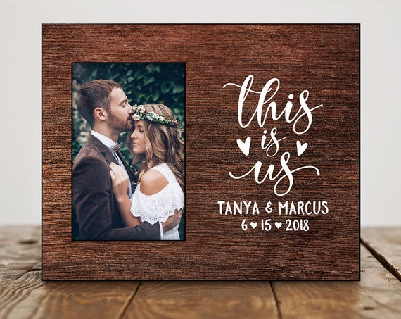 Wedding Picture Frame Personalized Wedding Gifts For Couple Etsy