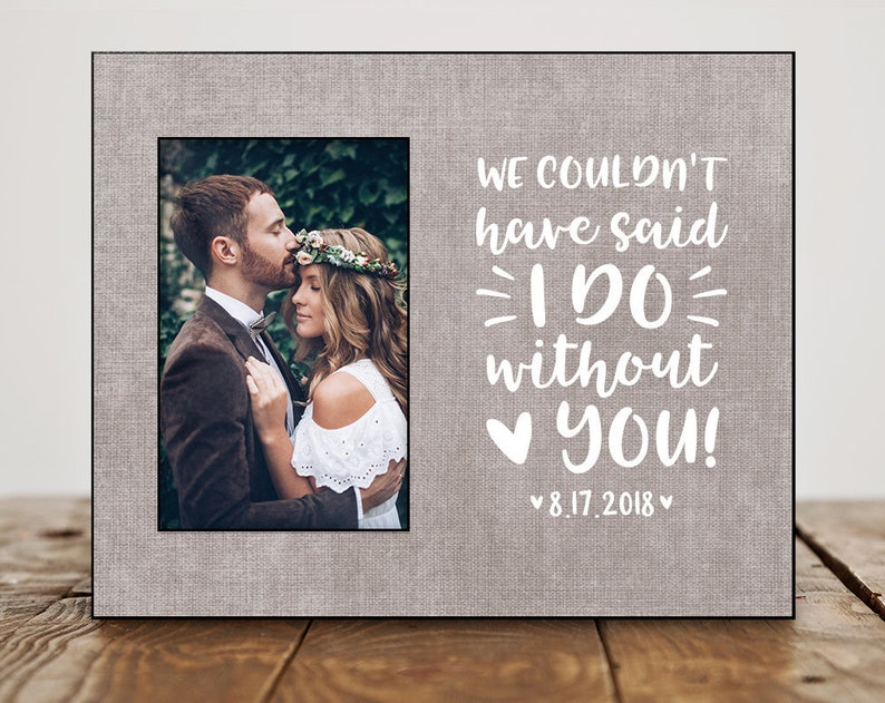 Officiant Gift Frame Officiant Gift For Friend Officiant Gift Personalized Officiant Gift Wedding Date 8101