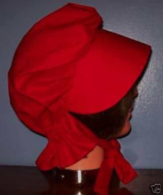 Cotton Women's Pioneer Hat Sun Bonnet Renaissance Fair New by Etsy
