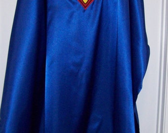 Royal Blue Satin Superman Style Cape Adult size custom made lxSnPa9w