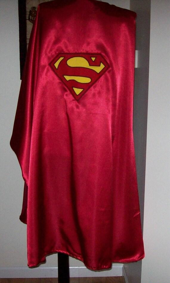 Royal Blue Satin Superman Style Cape Adult size custom made lJwOYlM