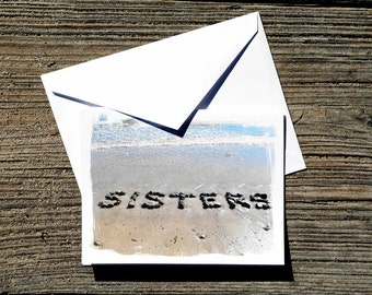 sisters beach theme note card set beach words beach stones card for sister beach cards sister birthday card sisters card sister gift