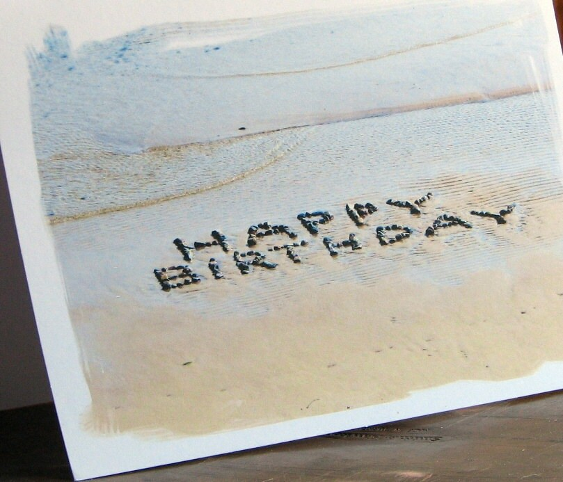 Beach Theme HAPPY BIRTHDAY Note Cards Set Of 3 Fun Birthday
