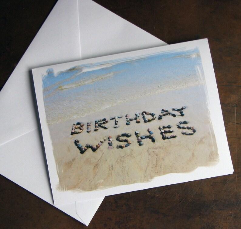 Beach Theme BIRTHDAY Cards WISHES Set Of 3