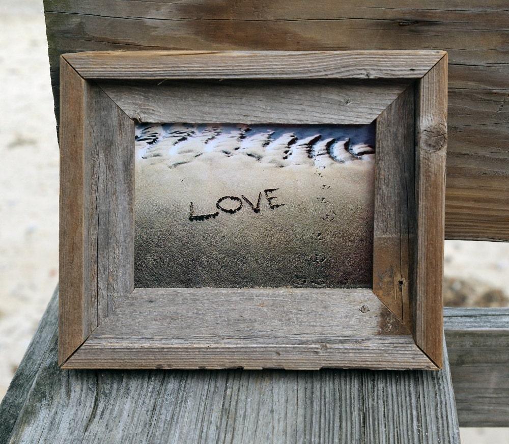 Rustic Beach Theme Wedding Love 5x7 Photo Romantic Word Etsy