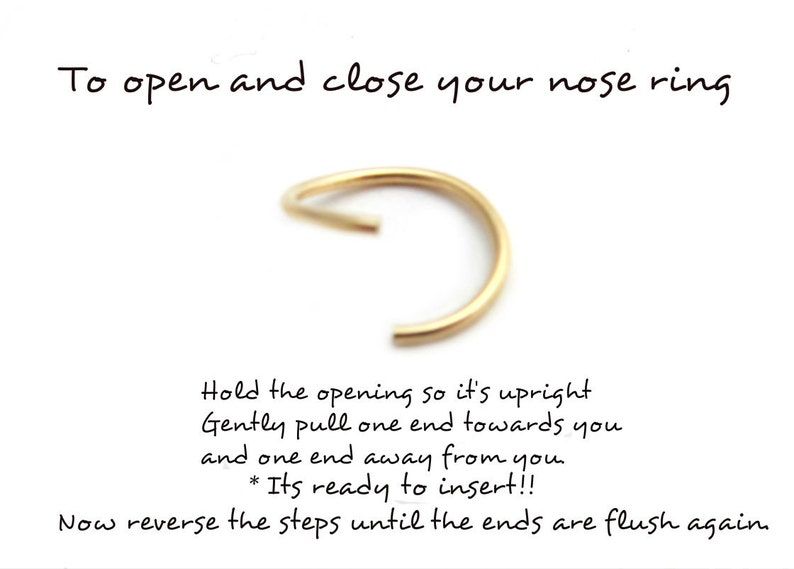 20 Gauge Solid 14k Yellow Gold Nose Ring FREE SHIPPING