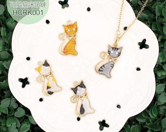 DIY Chinese UV Resin Craft Kit Cute Cat Necklace  --- Chinese Craft Kit HCRK001