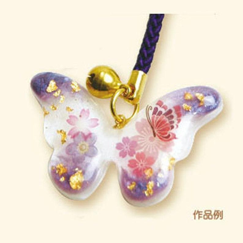 Diy Japanese Uv Resin Craft Kit Butterfly Japanese Craft Etsy