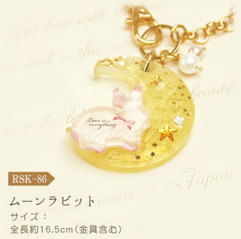 Diy Japanese Uv Resin Craft Kit Moon Rabbit Japanese Etsy