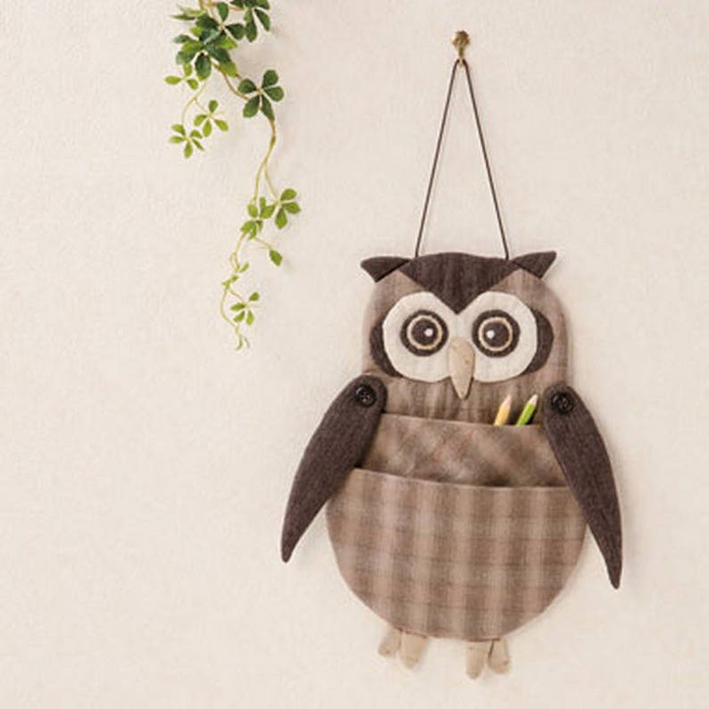 Diy Owl Wall Hanging Bag Hand Stitched Hand Sewing Cloth Etsy