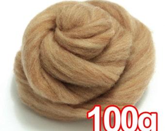 100g Super Fast felting Short Fiber Wool Perfect in Needle Felt and Wet Felt Caramel V805