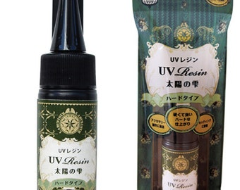 PADICO UV Resin Hard Type 25g, Cures in minutes with UV light, can makes charms, jewels and jewellery (Made in Japan) 404169