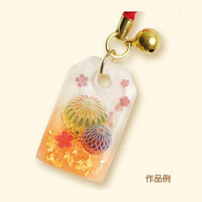 Diy Japanese Uv Resin Craft Kit Amulet Japanese Craft Kit Etsy