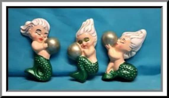 3 pc Mermaid Babies Set|DIY Plaster|Ready To Paint|U Paint|DIY|Plaster|PlasterCraft|ChalkWare|Wall D\u00e9cor|Wall Hangings