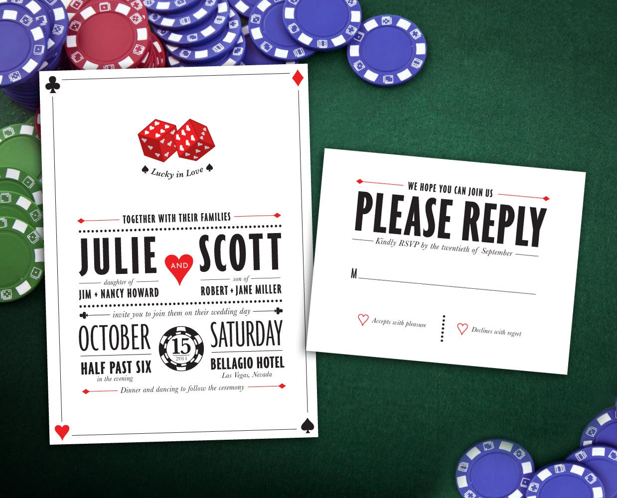 50: Las Vegas Theme Wedding Invitations At Websimilar.org