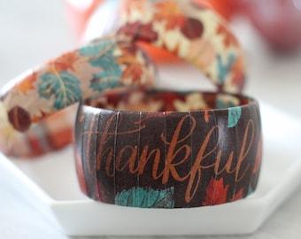 Fall Bracelet - Fall Jewelry - Thanksgiving Jewelry - Fall Bracelet - Gift for Teacher - Hostess Gift