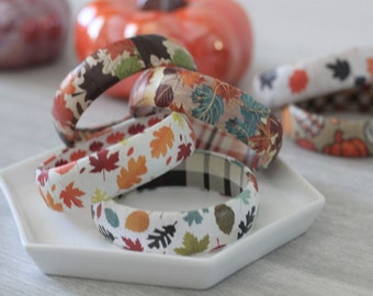 Fall Bracelet - Thanksgiving Jewelry - Stacking Bracelets - Fall Gift