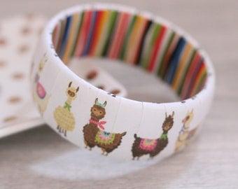Llama Bracelet - Llama Bangle Bracelet - Llama Jewelry - Llama Gift - No Drama Llama - Llama Lover Gift - Mama Llama Jewelry - Llama Fun