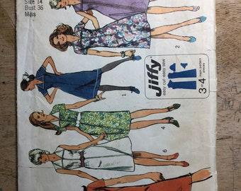 Simplicity 9355 Vintage 1971 pattern uncut size 14 bust 36