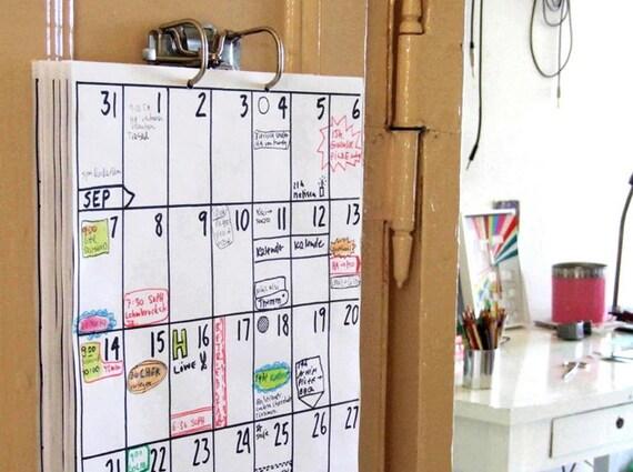 Kühlschrank Kalender : Kühlschrank kalender monate etsy