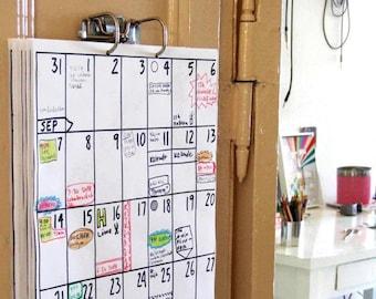 wall calendar Oct 2021 - Mar 2023