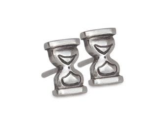Tiny Hourglass Studs