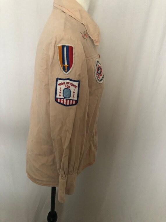 Vintage 70s Montgomery Ward Cordoroy Western Shirt