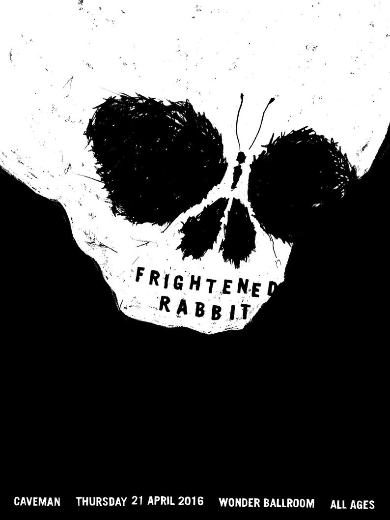 Frightened Rabbit Glow-in-the-Dark Gig Poster image 0