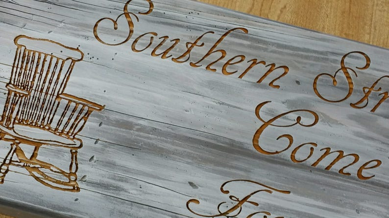 Sensational Southern Stress Relievers Sign Rocking Chairs Southern Saying Sign Porch Sign Sit A Spell Gmtry Best Dining Table And Chair Ideas Images Gmtryco