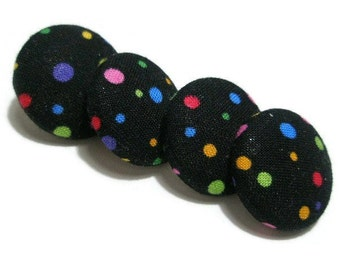 Black with Pastel Confetti Dots Pushpins/Thumbtacks for your Bulletin Board, Organize your Life