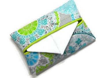 Travel Tissue Holder, Purse Size Tissue Holder, Travel Tissue Cozy, Pocket Tissue Holder, Personal Size Tissue Case
