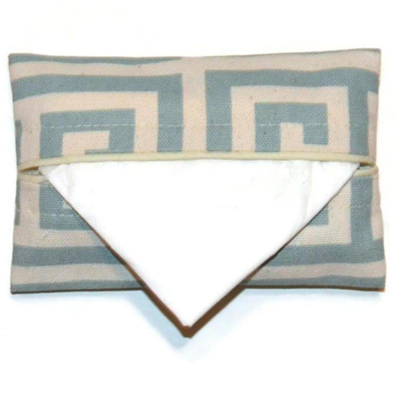 Pocket Tissue Pouch Geometric Blue Travel Tissue Holder Pocket Tissue Case Personal Tissue Pack