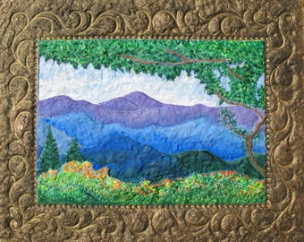 Wildflower Print, Greeting cards, Blueridge Mountains, Blueridge wildflower,Mountain Springtime,Sculpted Paper,Virginia Souvenir