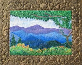 Blue Ridge Parkway, Wildflower Painting, Flame Azaleas, Skyline Drive, Blue Ridge Spring,Virginia Artist, Wall Art