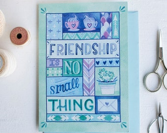 Best Friend Card, Bestie Encouragement Greeting Card, BFF Thank You Card, Thoughtful Card for Good Friend, Just Because Everyday Stationery