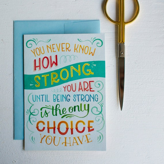 Encouragement Card Stay Strong Comfort Card Child Loss Grief Etsy
