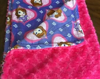 Premade Minky Rose Cuddle Blanket