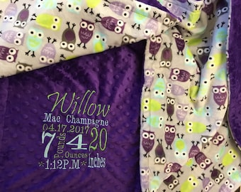 Personalized Custom Minky Blanket  blanket
