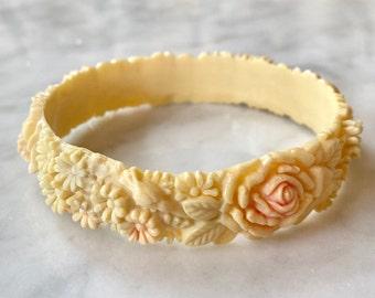 Beautiful Vintage Celluloid Flower Bracelet